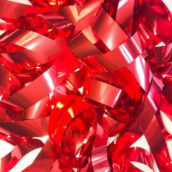 Бумага металлизированная красная для шоу