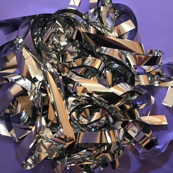 Бумага металлизированная серебро для шоу