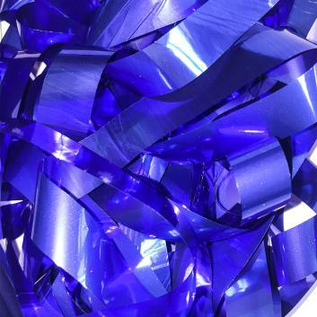 Бумага металлизированная синяя для шоу