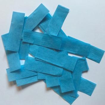 Конфетти бумажное голубое для шоу