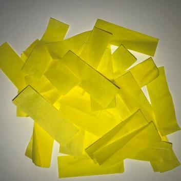 Конфетти бумажное желтое для шоу