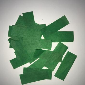 Конфетти бумажное зеленое для шоу