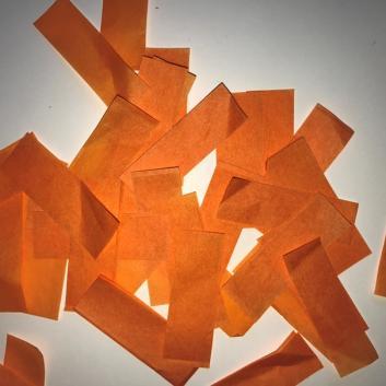Конфетти бумажное оранжевое для шоу