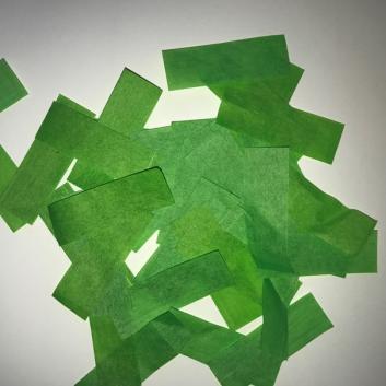 Конфетти бумажное салатовое для шоу