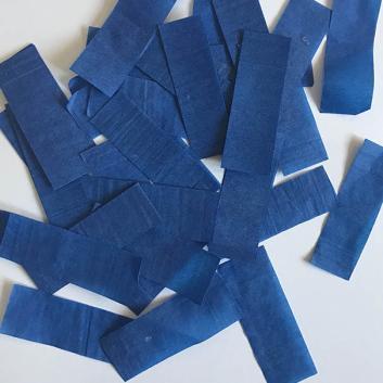 Конфетти бумажное синее для шоу