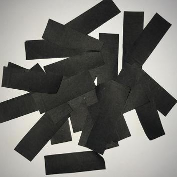 Конфетти бумажное черное для шоу