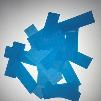 Конфетти бумажное ярко голубое для шоу