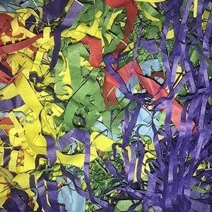 Обрезь цветной бумаги для шоу